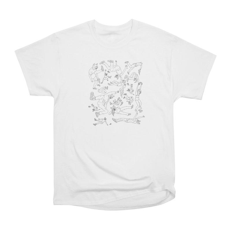 falling pizza cats Women's Heavyweight Unisex T-Shirt by velcrowolf