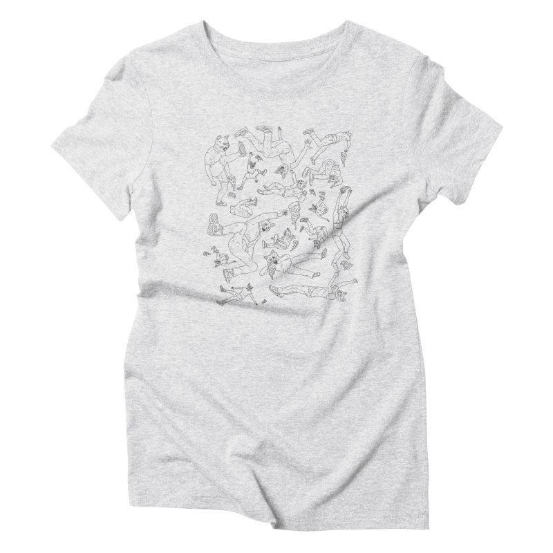 falling pizza cats Women's Triblend T-Shirt by velcrowolf