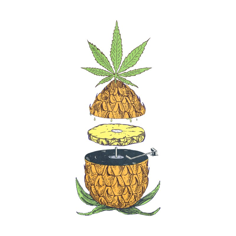 Pineapple Power Men's T-Shirt by velcrowolf