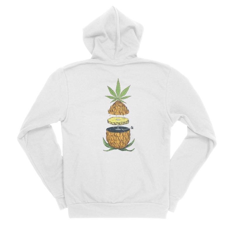 Pineapple Power Men's Sponge Fleece Zip-Up Hoody by velcrowolf