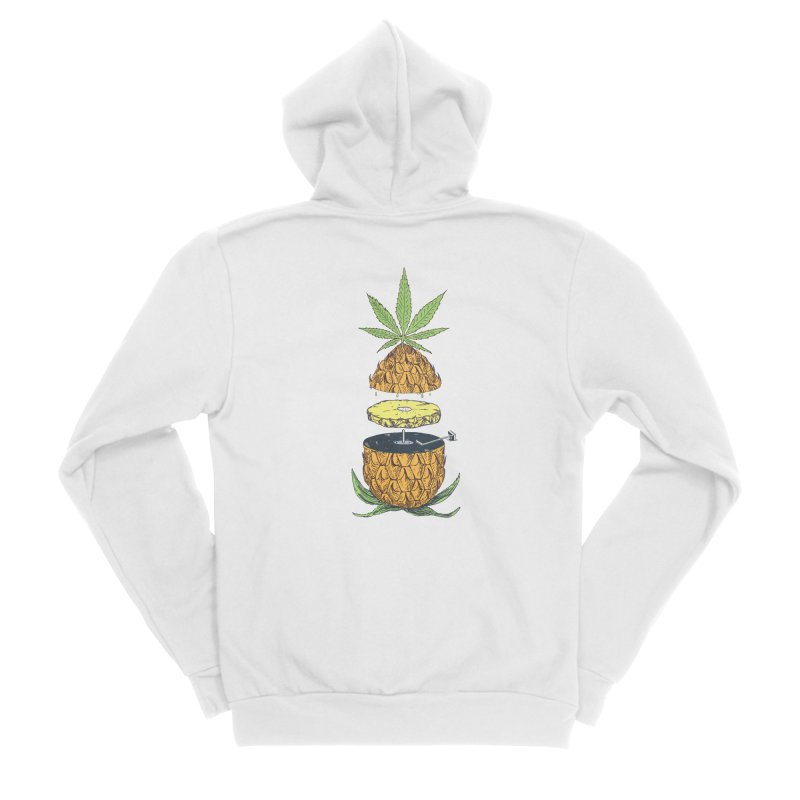 Pineapple Power Women's Sponge Fleece Zip-Up Hoody by velcrowolf