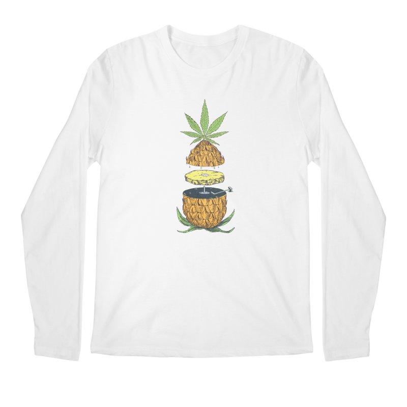 Pineapple Power Men's Longsleeve T-Shirt by velcrowolf
