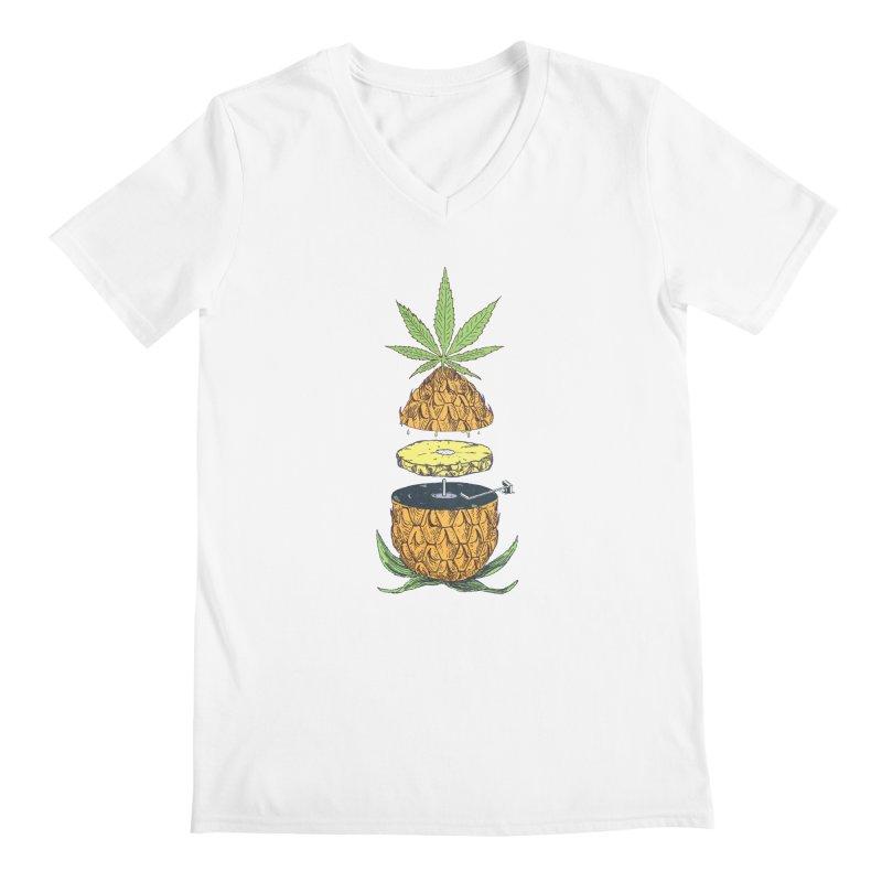 Pineapple Power Men's V-Neck by velcrowolf
