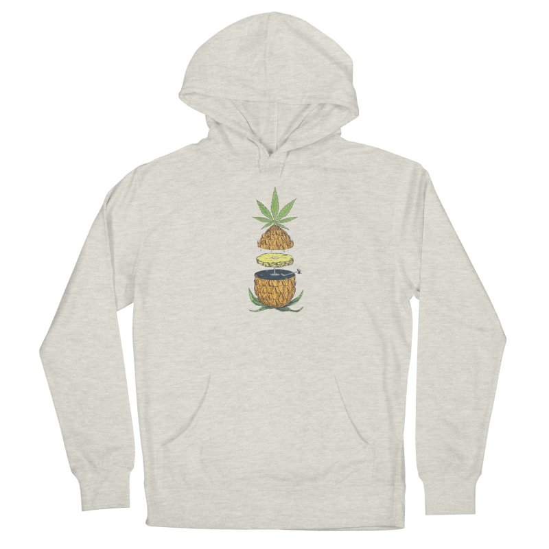 Pineapple Power Men's French Terry Pullover Hoody by velcrowolf