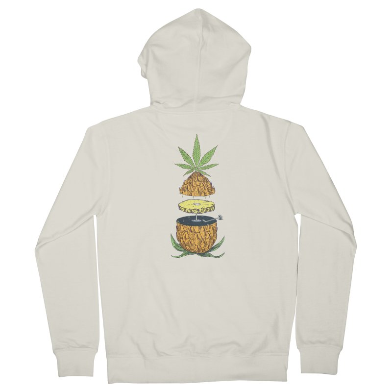 Pineapple Power Men's French Terry Zip-Up Hoody by velcrowolf