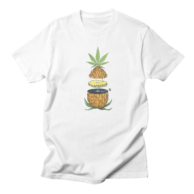 Pineapple Power Men's Regular T-Shirt by velcrowolf