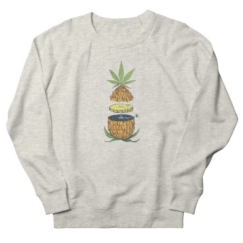 Pineapple Power Men's French Terry Sweatshirt by velcrowolf
