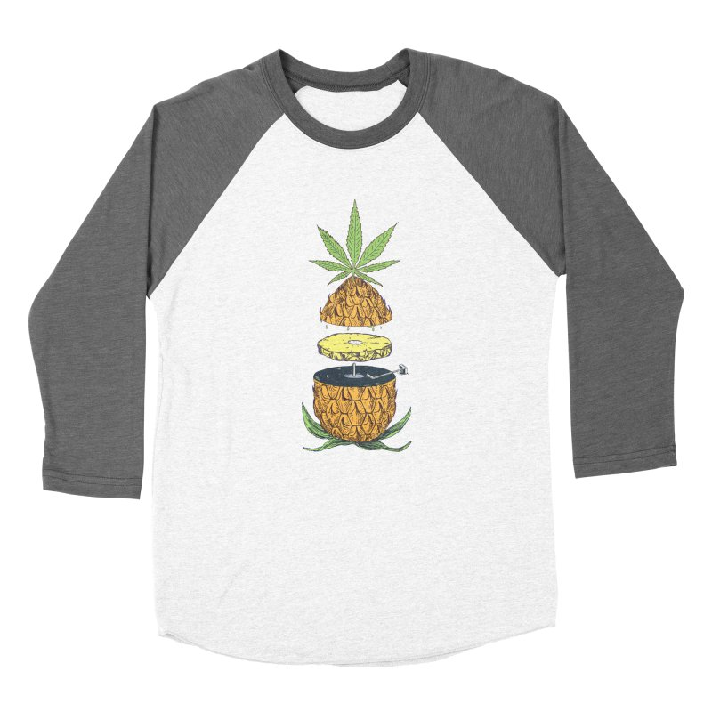 Pineapple Power Men's Baseball Triblend Longsleeve T-Shirt by velcrowolf
