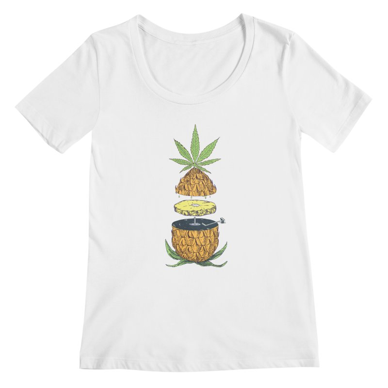 Pineapple Power Women's Regular Scoop Neck by velcrowolf