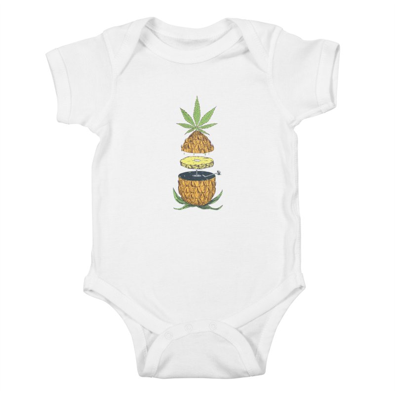 Pineapple Power Kids Baby Bodysuit by velcrowolf