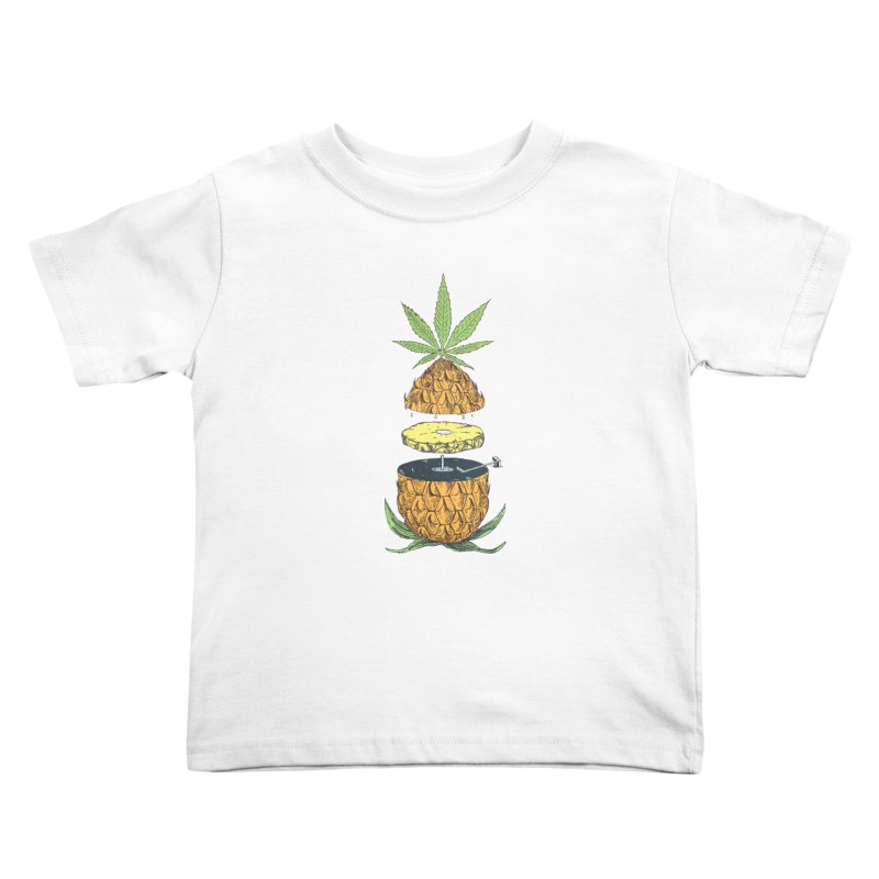 Pineapple Power Kids Toddler T-Shirt by velcrowolf