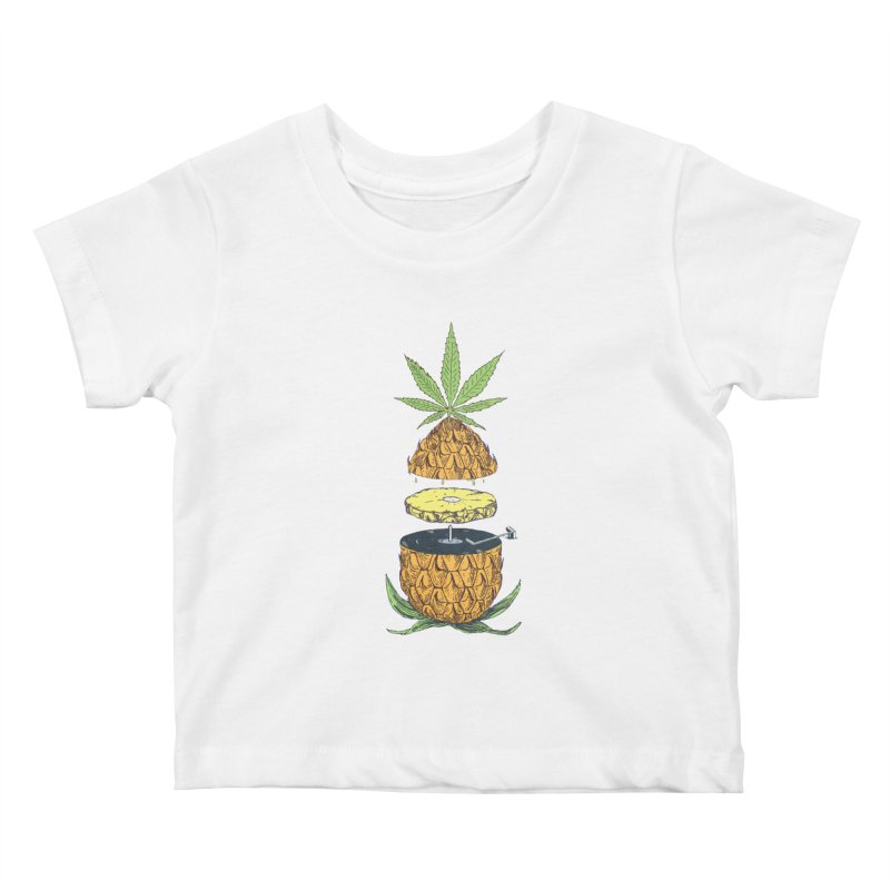 Pineapple Power Kids Baby T-Shirt by velcrowolf