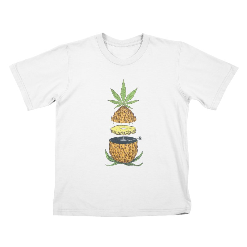 Pineapple Power Kids T-Shirt by velcrowolf