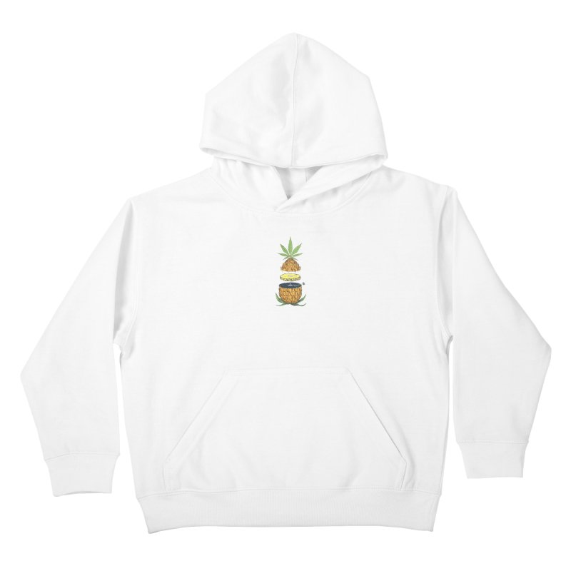 Pineapple Power Kids Pullover Hoody by velcrowolf