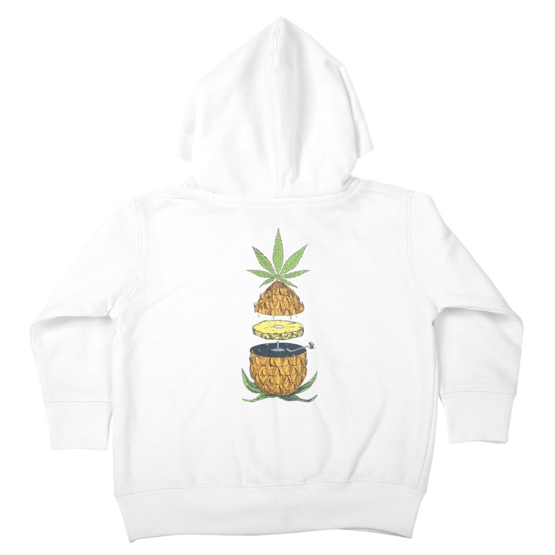 Pineapple Power Kids Toddler Zip-Up Hoody by velcrowolf