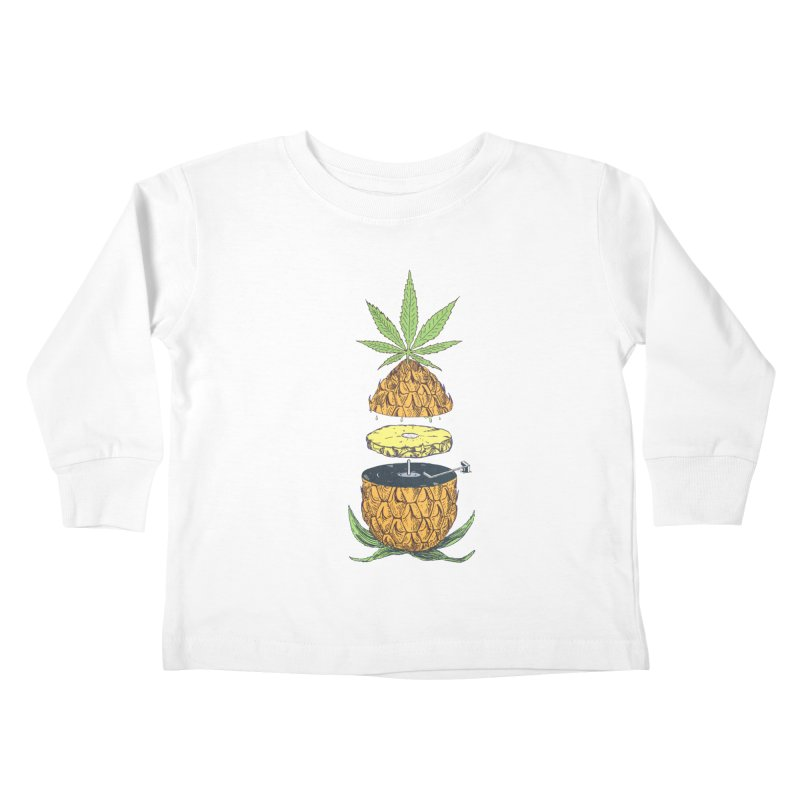 Pineapple Power Kids Toddler Longsleeve T-Shirt by velcrowolf