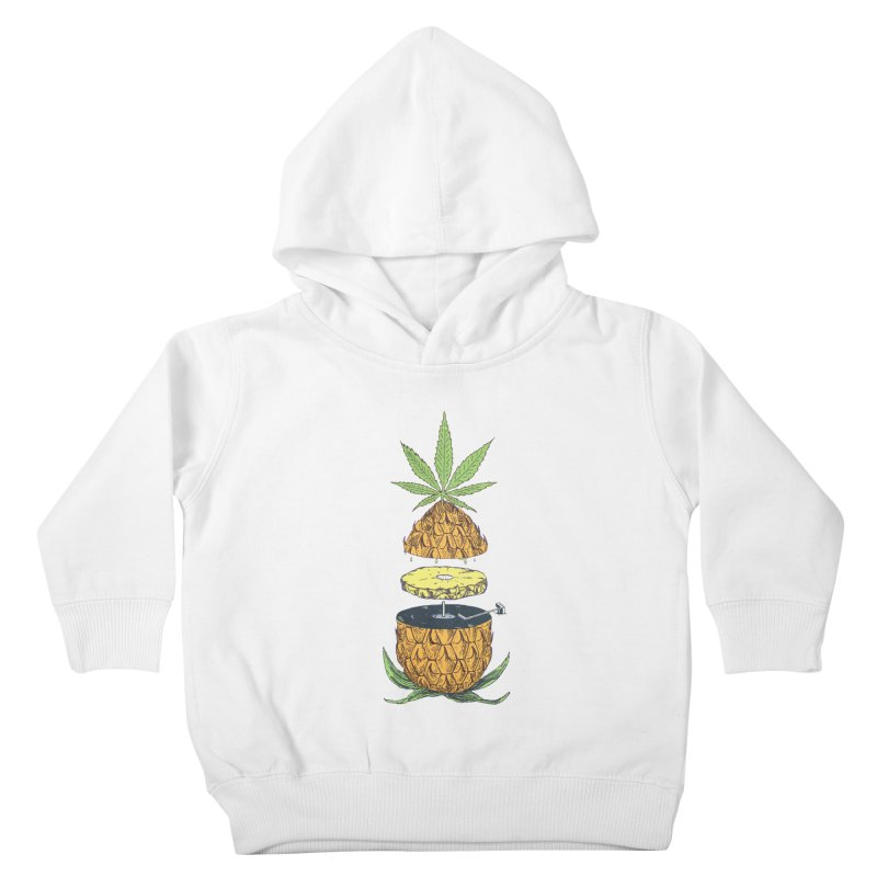 Pineapple Power Kids Toddler Pullover Hoody by velcrowolf