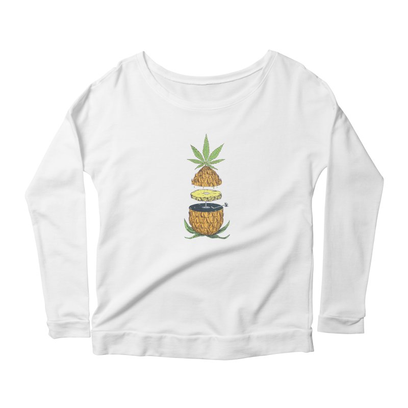 Pineapple Power Women's Longsleeve T-Shirt by velcrowolf