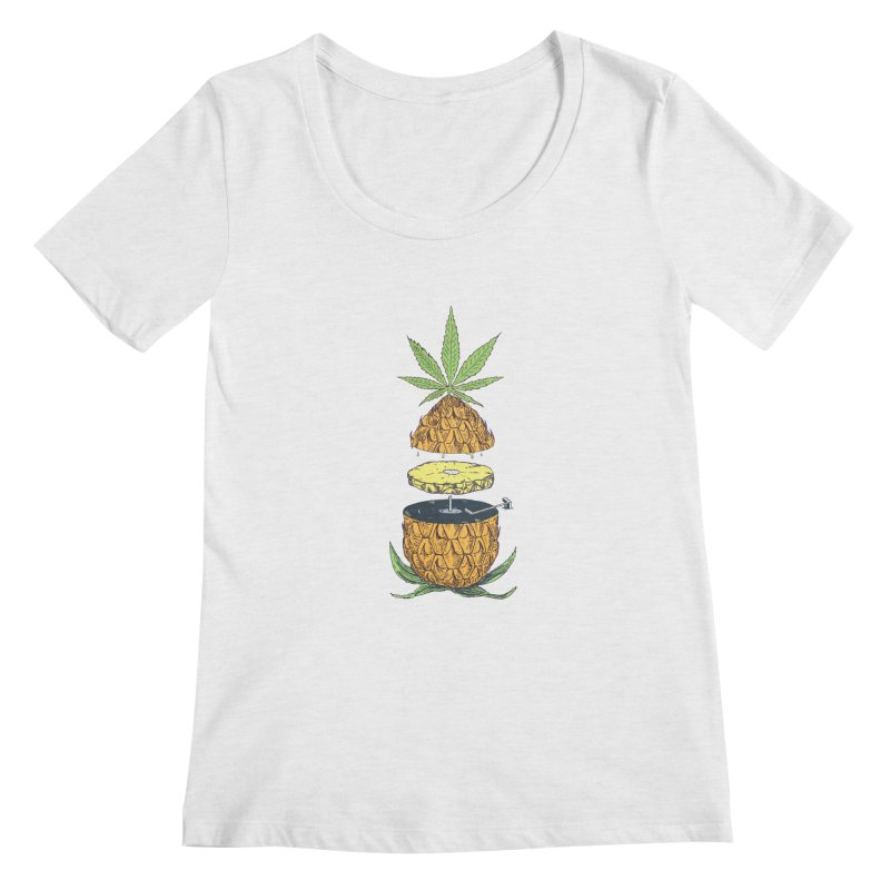 Pineapple Power Women's Regular Scoop Neck by velcrowolf