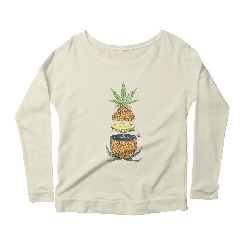 Pineapple Power Women's Scoop Neck Longsleeve T-Shirt by velcrowolf