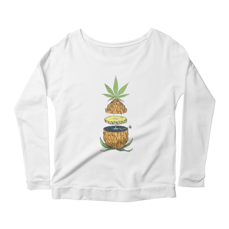 Pineapple Power Women's Scoop Neck Longsleeve T-Shirt by velcrowolf