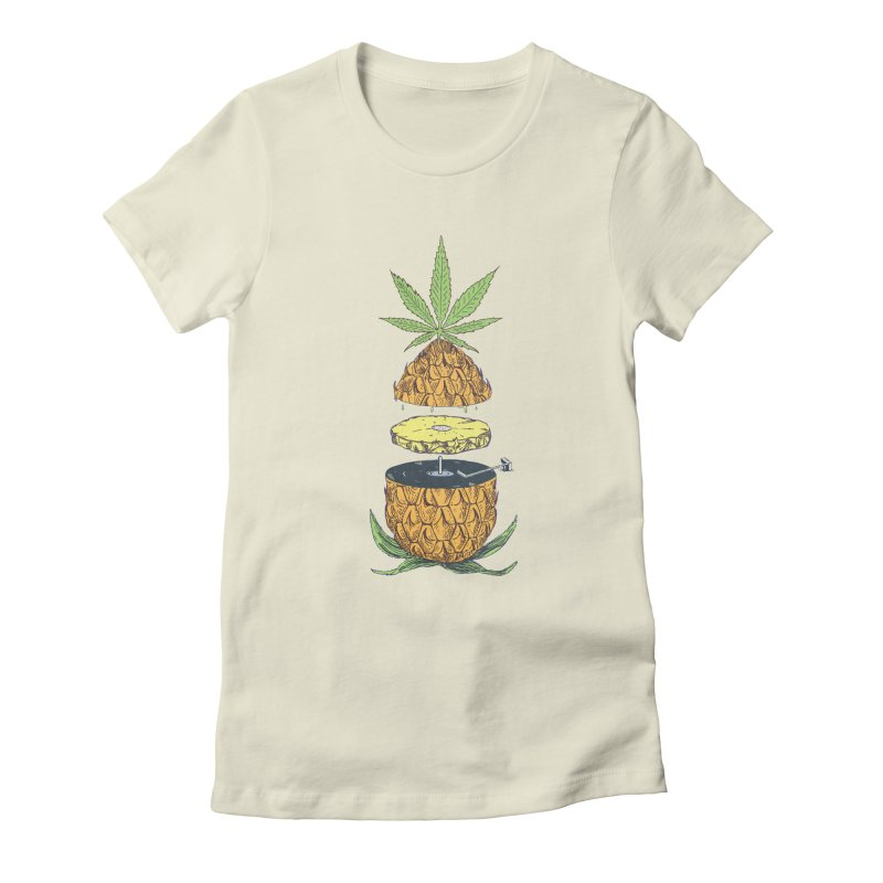 Pineapple Power Women's Fitted T-Shirt by velcrowolf