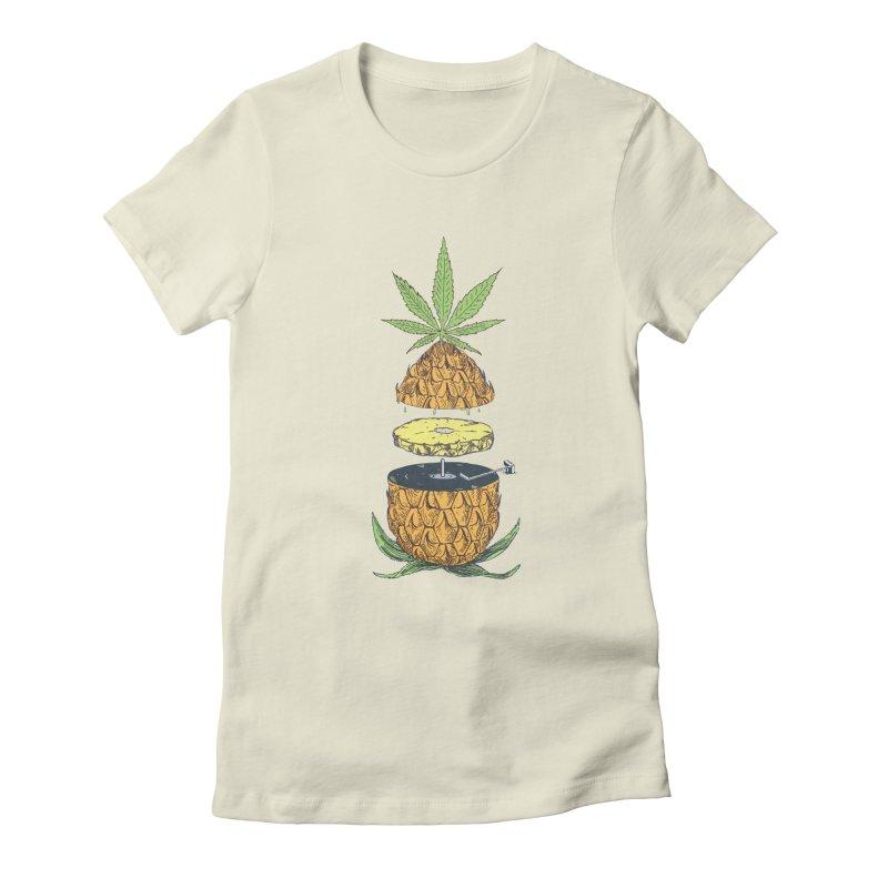 Pineapple Power Women's T-Shirt by velcrowolf