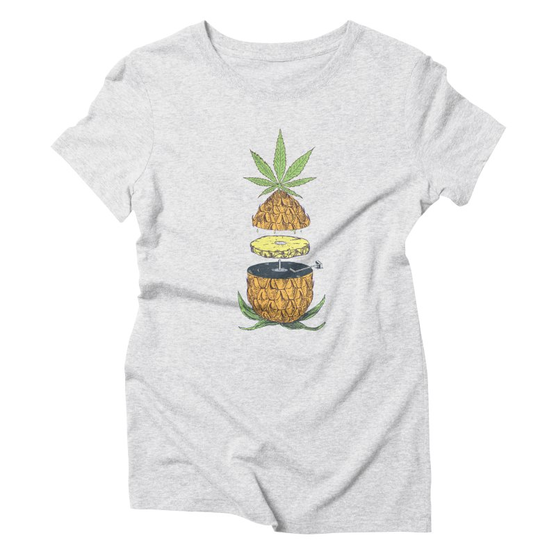 Pineapple Power Women's Triblend T-Shirt by velcrowolf