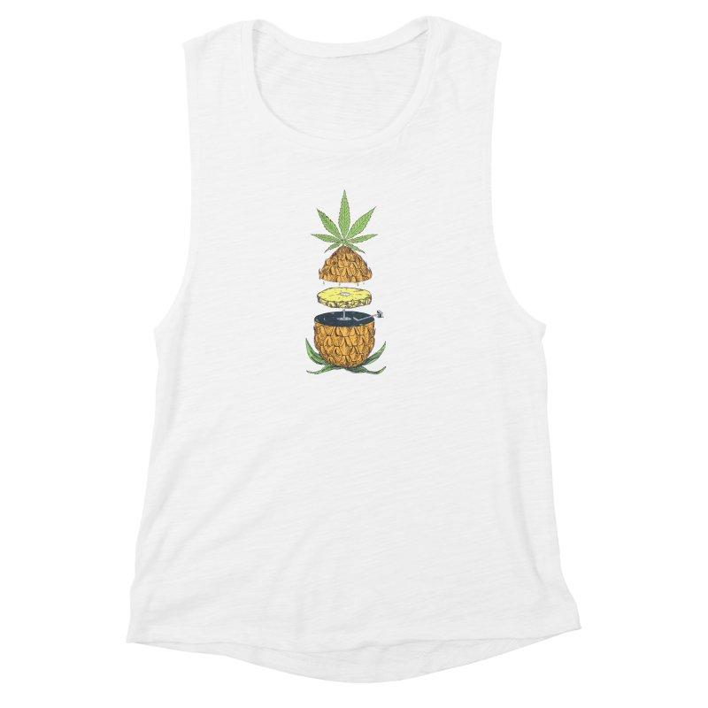 Pineapple Power Women's Muscle Tank by velcrowolf
