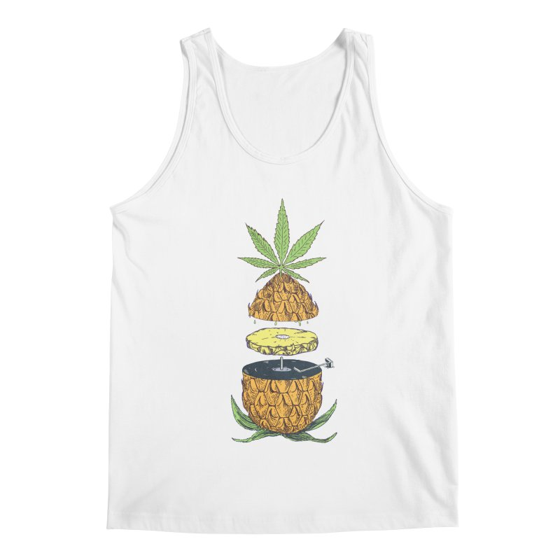 Pineapple Power Men's Regular Tank by velcrowolf