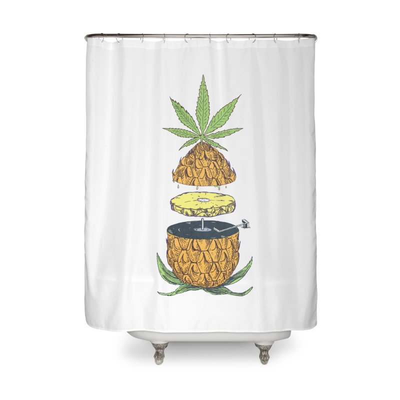 Pineapple Power Home Shower Curtain by velcrowolf