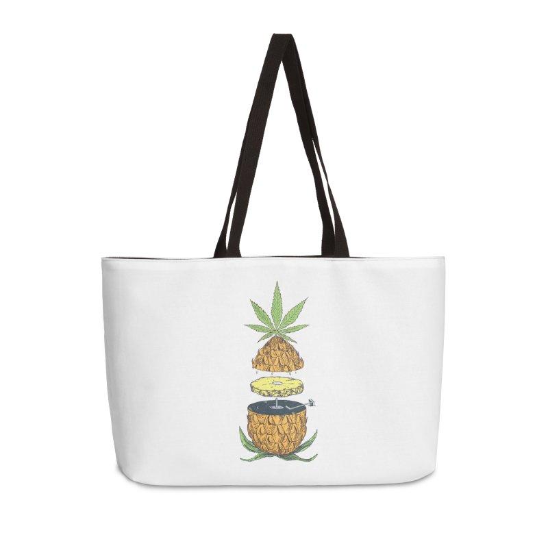 Pineapple Power Accessories Weekender Bag Bag by velcrowolf
