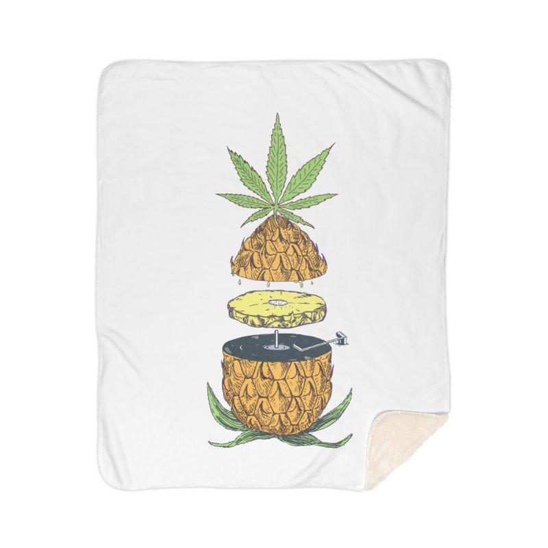 Pineapple Power Home Sherpa Blanket Blanket by velcrowolf