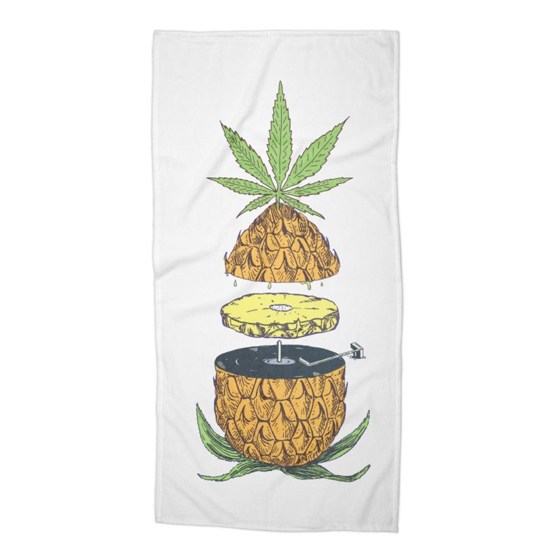 Pineapple Power Accessories Beach Towel by velcrowolf