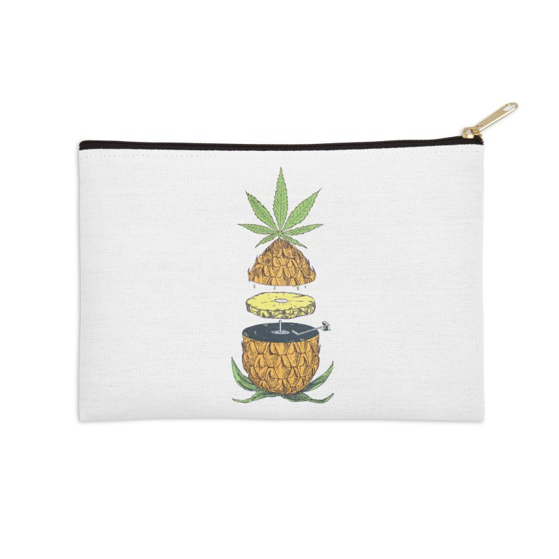 Pineapple Power Accessories Zip Pouch by velcrowolf
