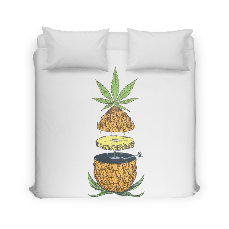 Pineapple Power Home Duvet by velcrowolf