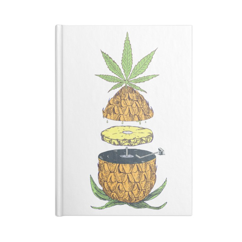 Pineapple Power Accessories Lined Journal Notebook by velcrowolf