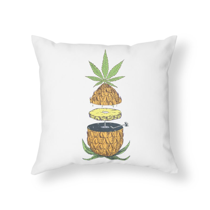 Pineapple Power Home Throw Pillow by velcrowolf