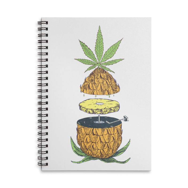Pineapple Power Accessories Lined Spiral Notebook by velcrowolf