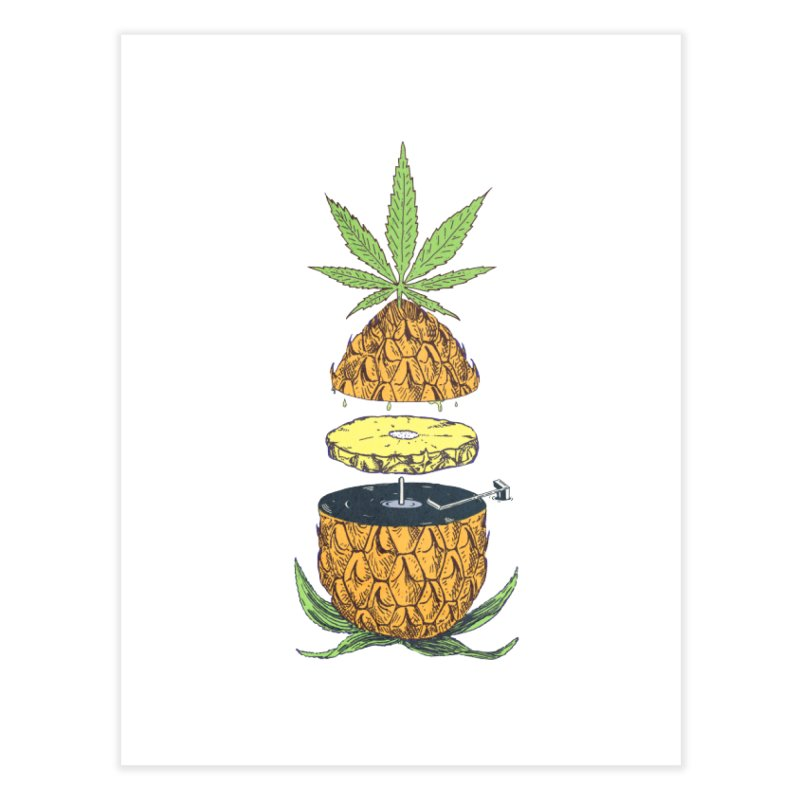 Pineapple Power Home Fine Art Print by velcrowolf