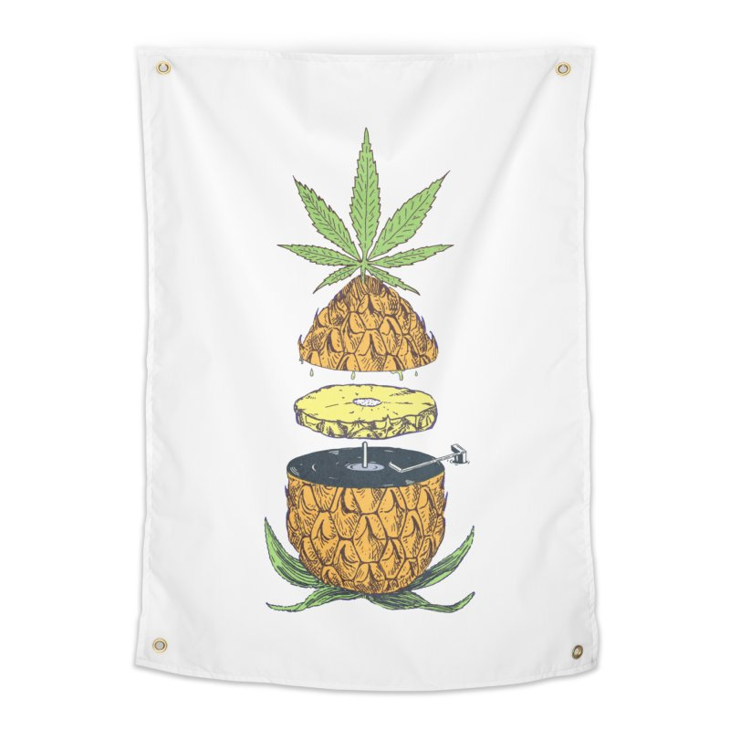Pineapple Power Home Tapestry by velcrowolf