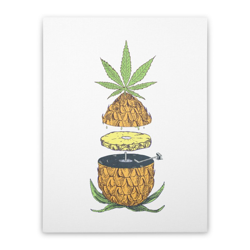 Pineapple Power Home Stretched Canvas by velcrowolf
