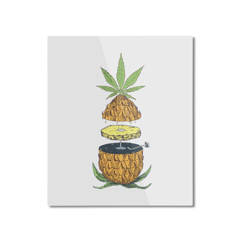Pineapple Power Home Mounted Aluminum Print by velcrowolf