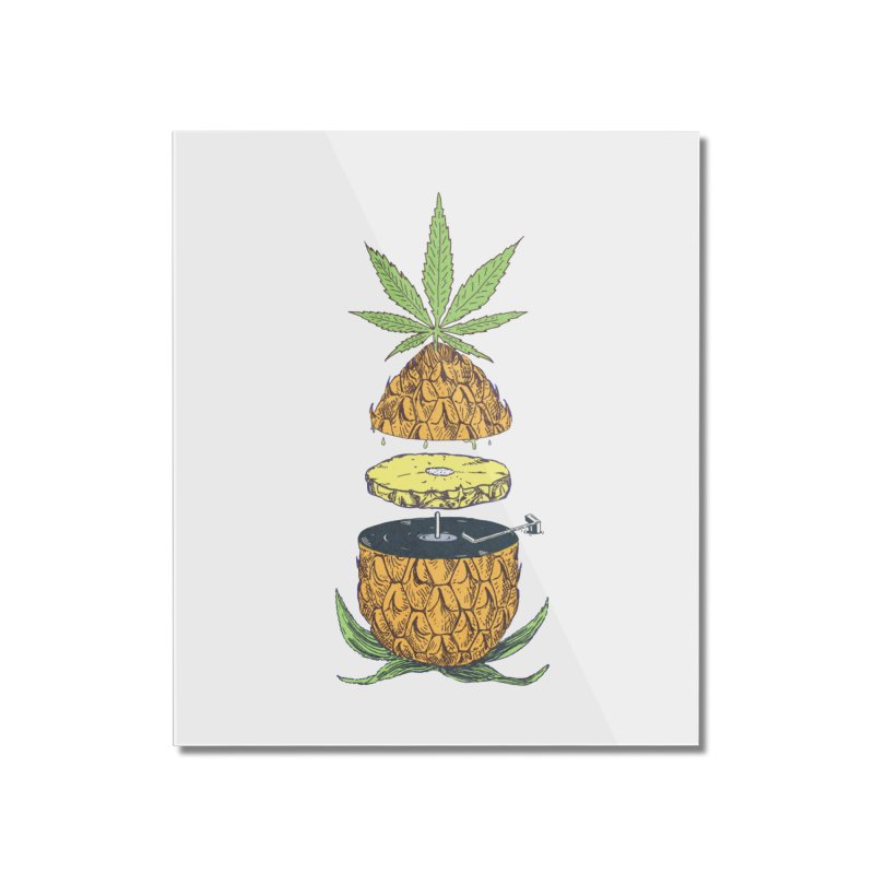Pineapple Power Home Mounted Acrylic Print by velcrowolf