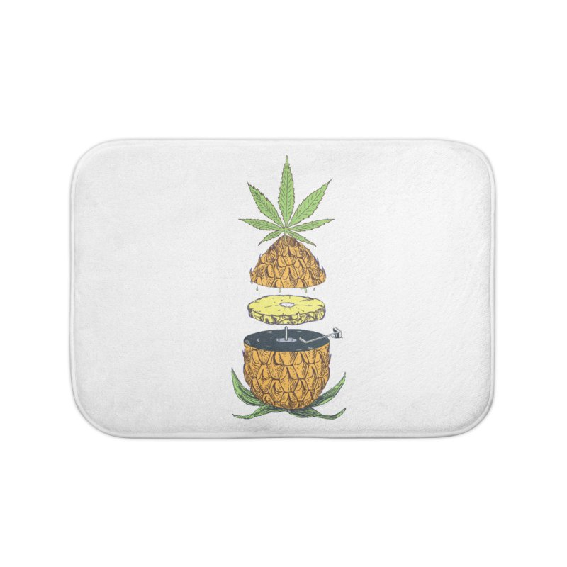 Pineapple Power Home Bath Mat by velcrowolf