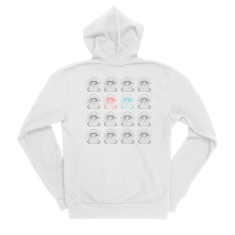 laser cat Women's Sponge Fleece Zip-Up Hoody by velcrowolf