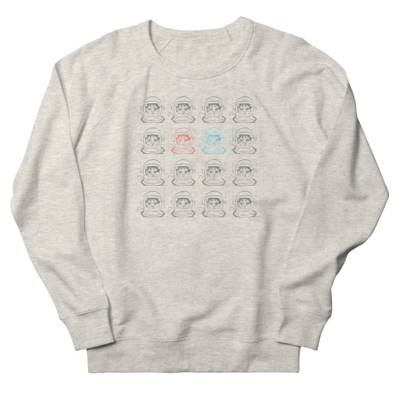 laser cat Men's French Terry Sweatshirt by velcrowolf