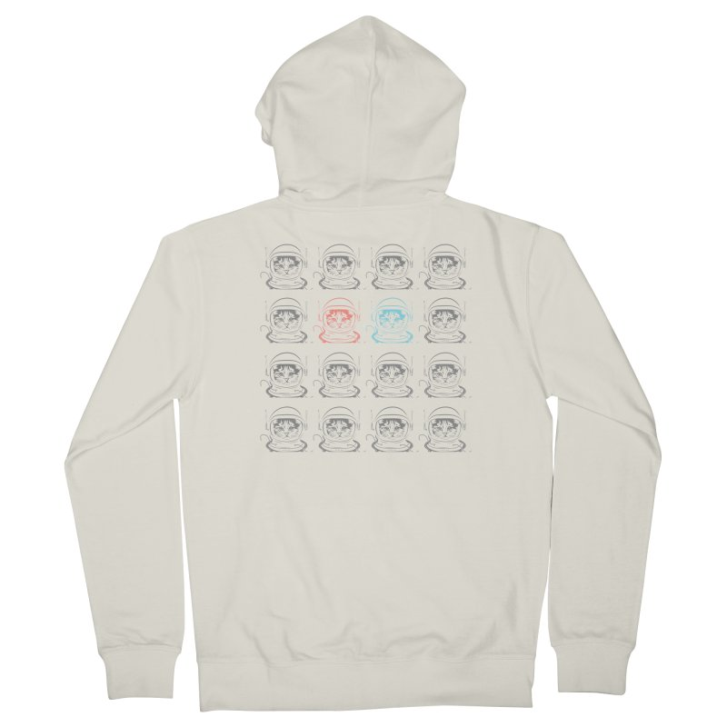 laser cat Men's French Terry Zip-Up Hoody by velcrowolf