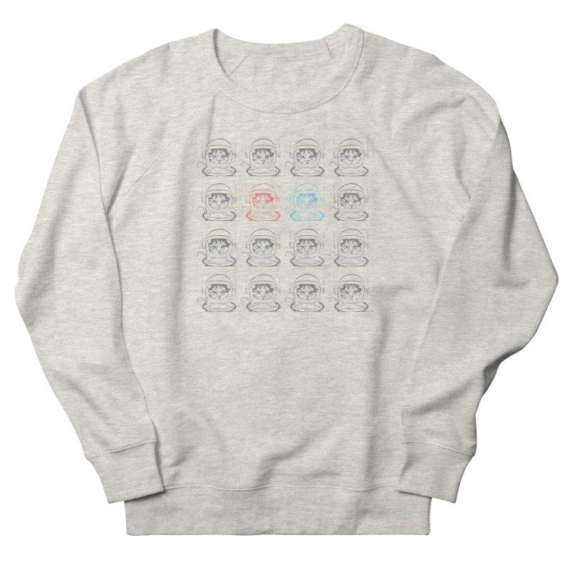 laser cat Men's French Terry Sweatshirt by velcrowolf