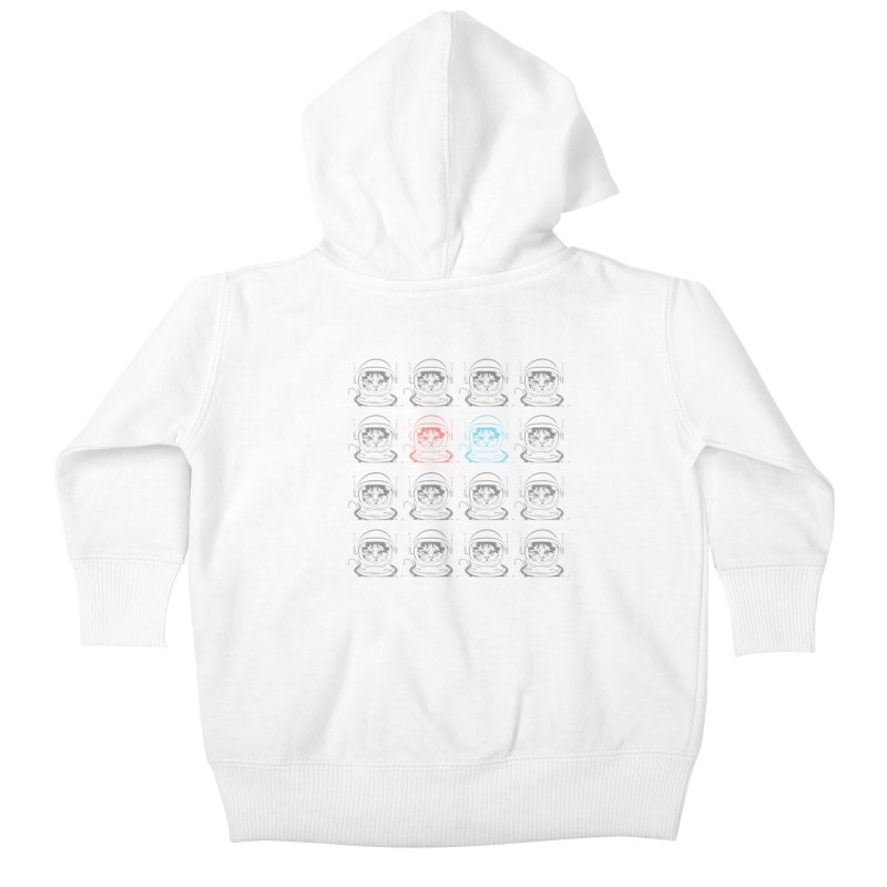laser cat Kids Baby Zip-Up Hoody by velcrowolf